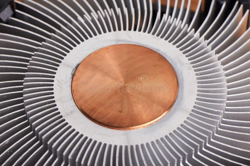 Kühlkörper von CPU-Kühlvorrichtung stockfoto