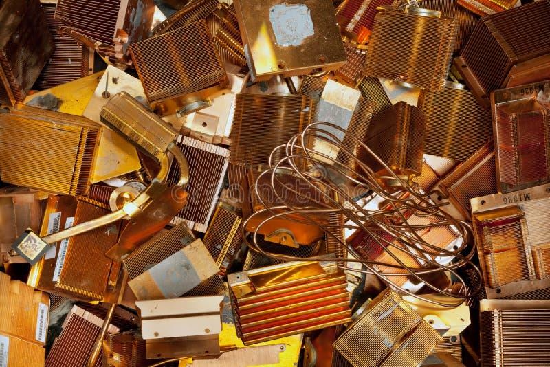 Kühlkörperkupfer stockfotografie
