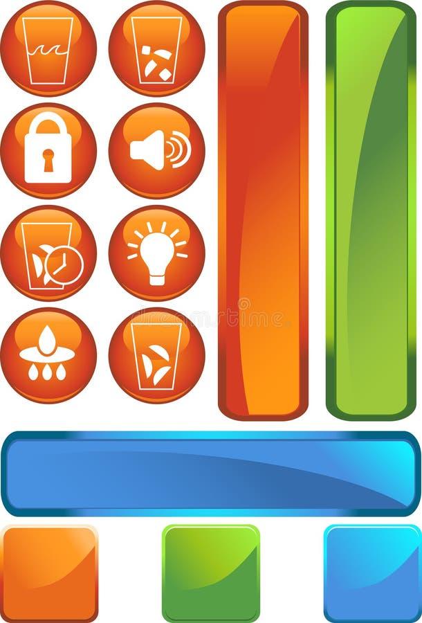 Kühlraum-Ikonen: Kugel-Set vektor abbildung