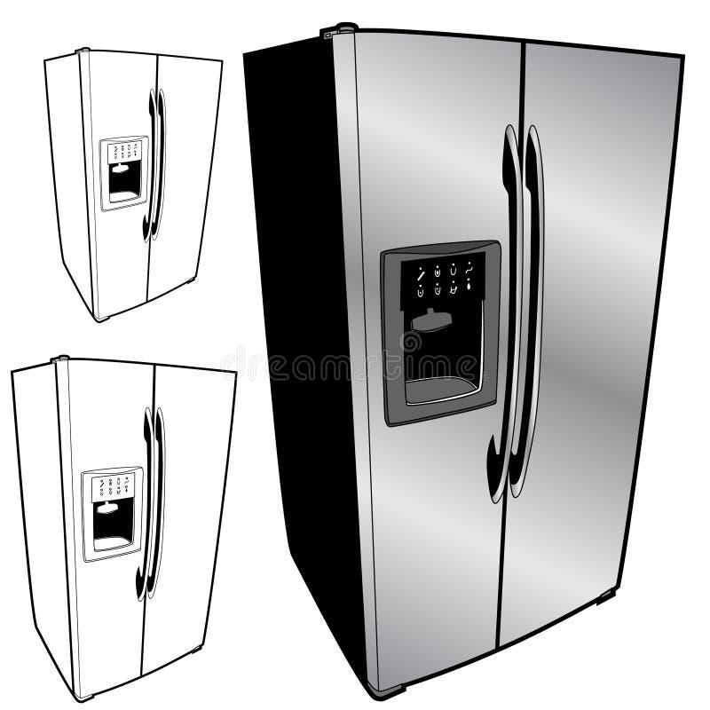 Kühlraum-Set stock abbildung