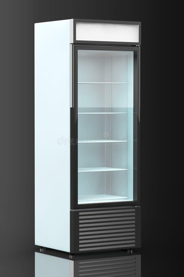 Kühlschrank-Getränk Mit Glastür Stock Abbildung - Illustration von ...