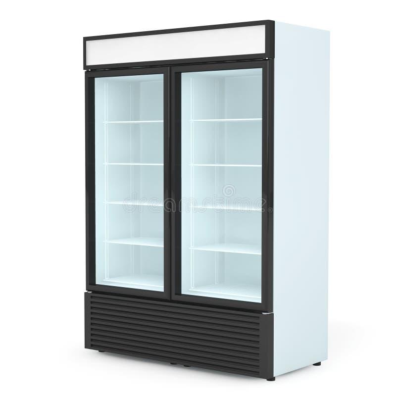 Kühlschrank-Getränk Mit Glastür Stockfoto - Bild von frost ...