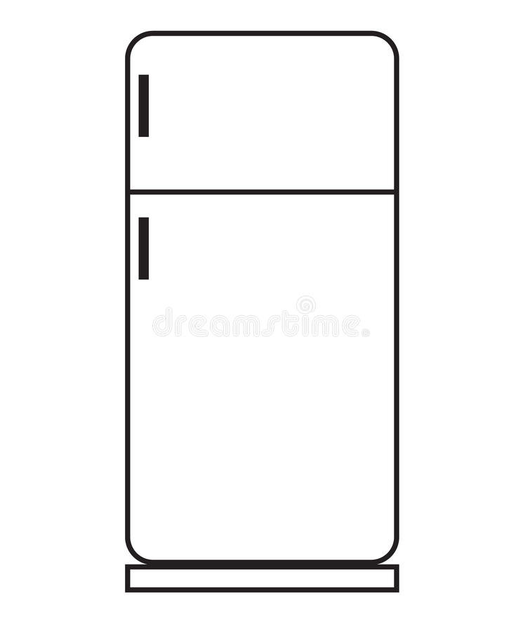 Kühlschrankikone stock abbildung