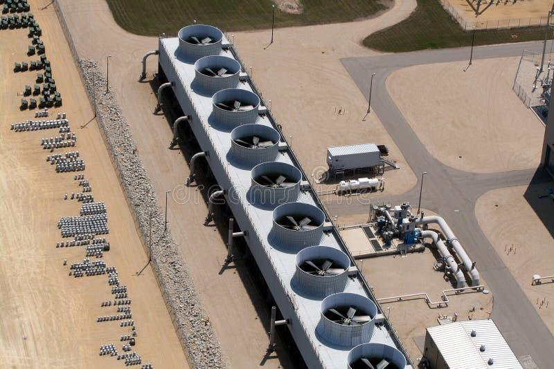 Kühlventilatoren an der Triebwerkanlage stockfotografie