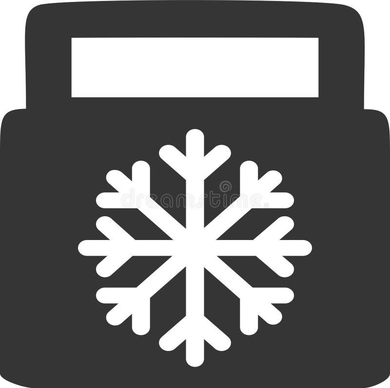 Kühlvorrichtung - kaltes Essen Carry Case - Verpflegungs-Tasche stock abbildung