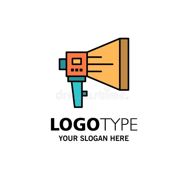Kündigen Sie, Digital, Lautsprecher, Marketing, Megaphon, Sprecher, Werkzeug-Geschäft Logo Template an flache Farbe stock abbildung
