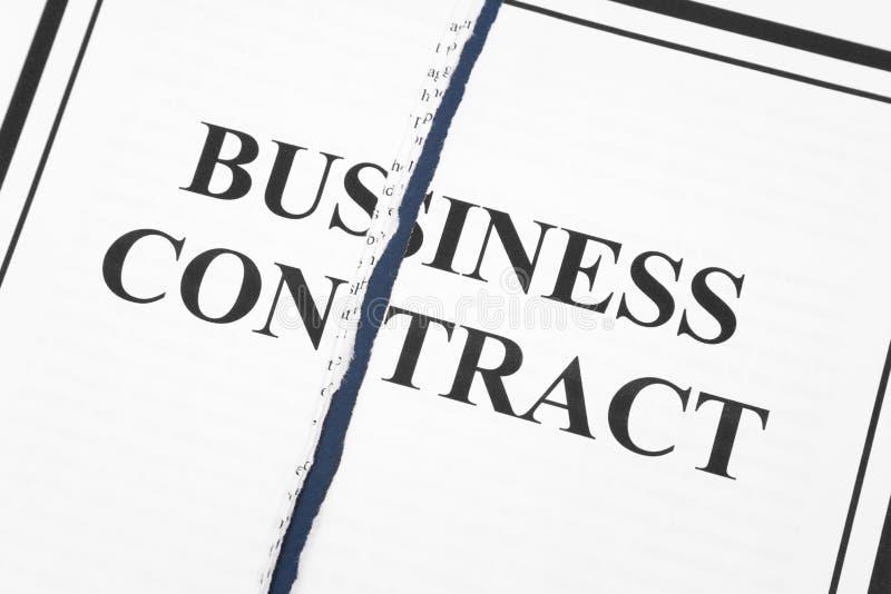 Kündigen Sie Geschäfts-Vertrag stockfotos