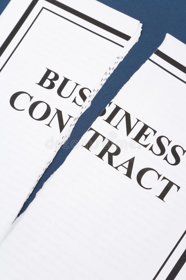 Kündigen Sie Geschäfts-Vertrag stockfoto