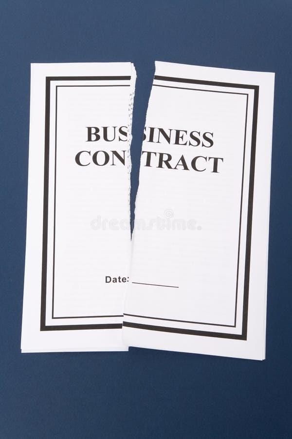 Kündigen Sie Geschäfts-Vertrag lizenzfreies stockfoto