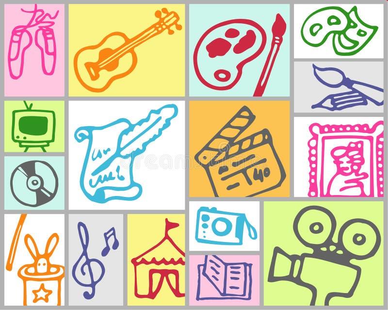 Künste und Freizeit lizenzfreie abbildung