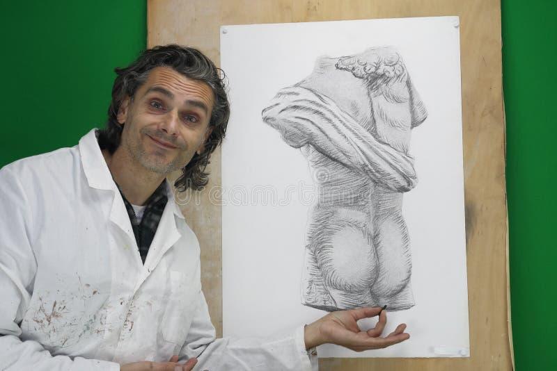 Download Künstler bei der Arbeit stock abbildung. Illustration von bleistift - 27727267