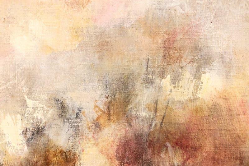 Künstler malten abstrakten Hintergrund des Segeltuches stockfotografie
