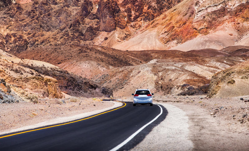 Künstler ` s Antrieb - Nationalpark Death Valley lizenzfreie stockfotos