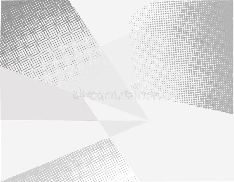 Künstlerisch abstrakte dreieckige geometrische Muster schattiger grauer Quadratzecken in einem monochromatischen Farbverlauf lizenzfreie abbildung
