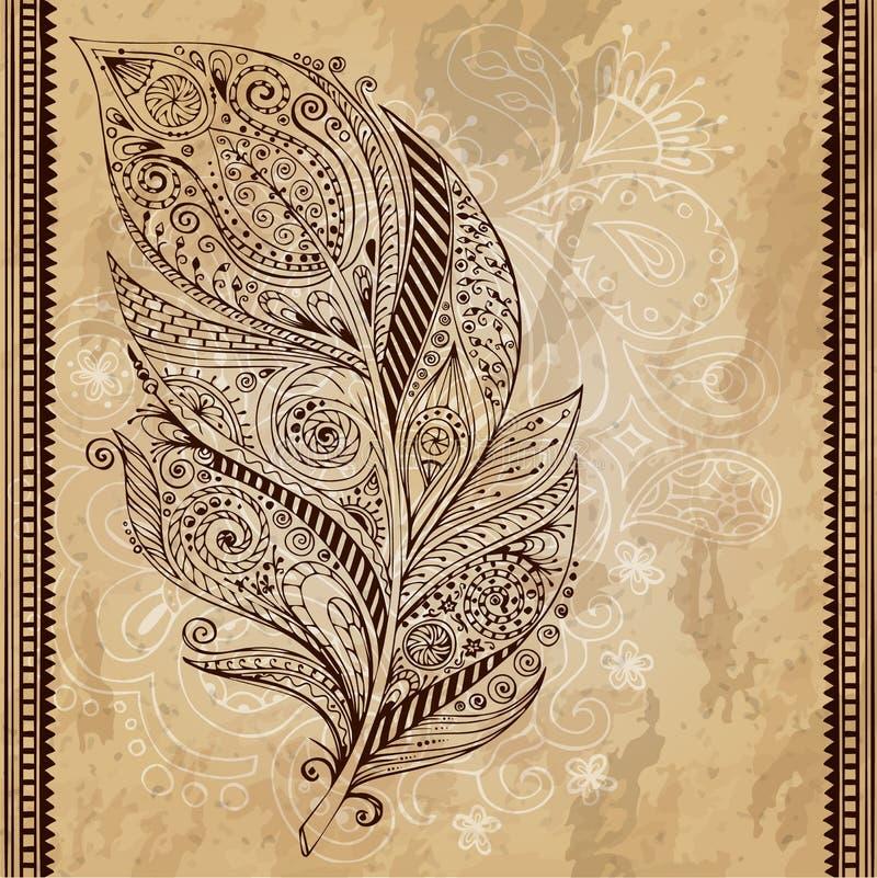 Künstlerisch gezeichnet, stilisiert, vector Stammes- vektor abbildung
