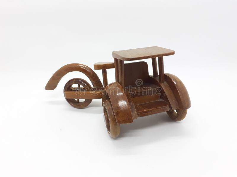 Künstlerisch schönes Holz Indonesian Traditional Vehicle Children Toys for Interior Decoration and Education Purpose 09 stockbild