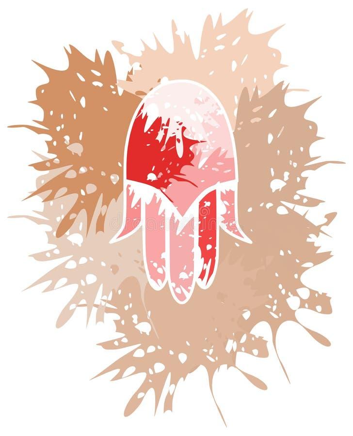 Künstlerische Hand von Fatima machte mit den lokalisierten Stellen stock abbildung