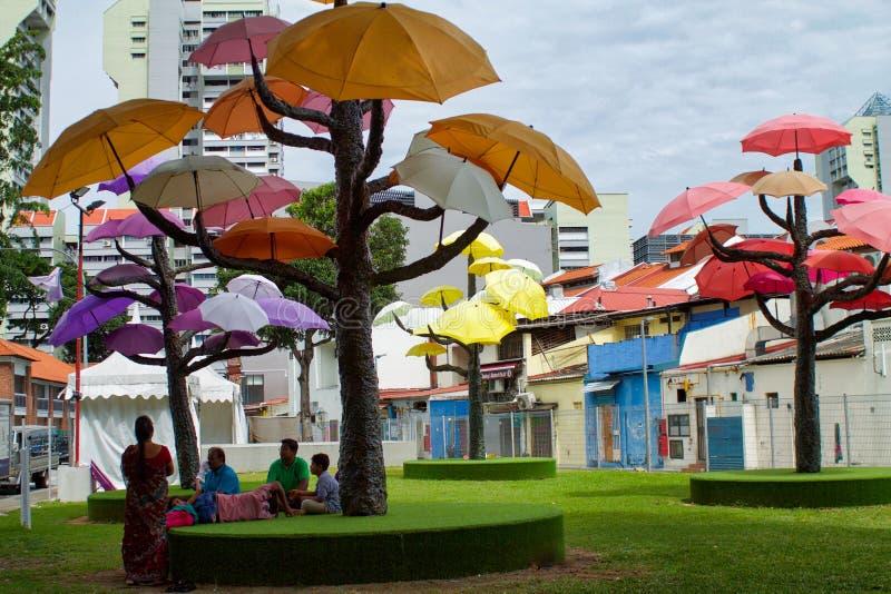 Künstlerische Installation in Singapur-Straße lizenzfreie stockfotos