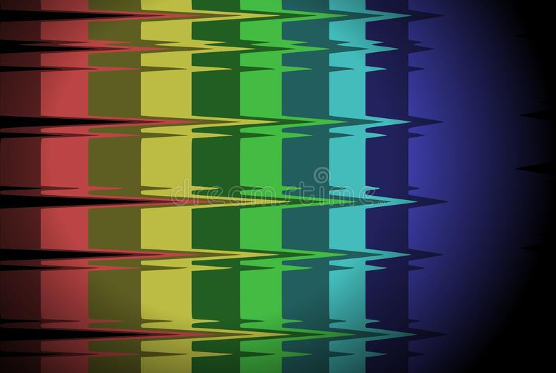 Künstlerische Regenbogenflagge lizenzfreie abbildung