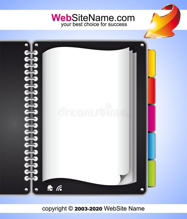 Künstlerische WebDesign Schablone vektor abbildung