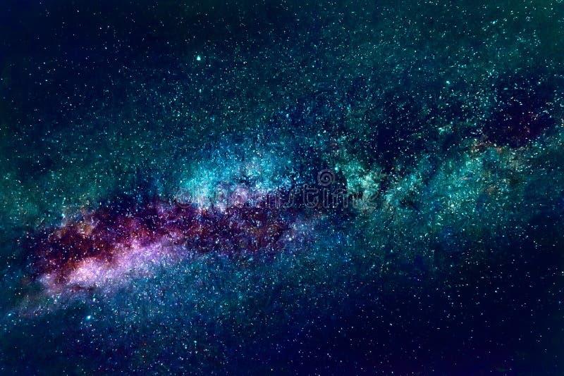 Künstlerische Zusammenfassungs-drastischer mehrfarbiger Nebelfleck-Galaxie-Hintergrund stockbilder