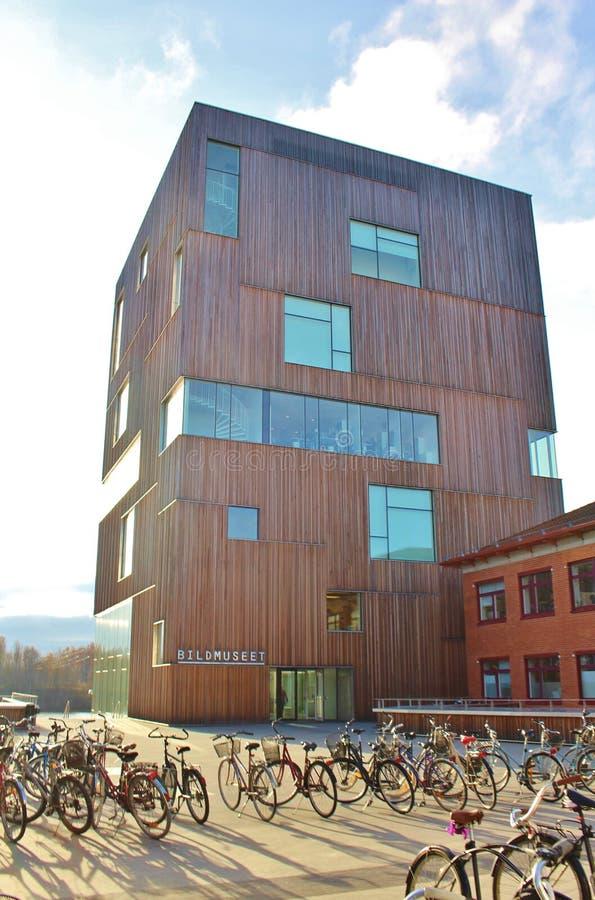 Künstlerischer Campus, UmeÃ¥-Universität stockfoto