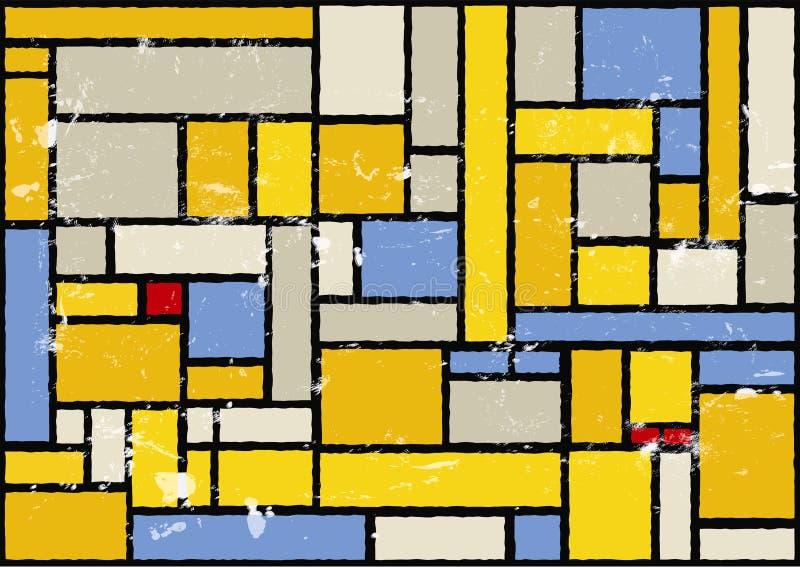 Künstlerischer Farbenhintergrund stock abbildung