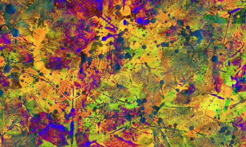 Künstlerischer Hintergrund des Herbstlaubs vektor abbildung