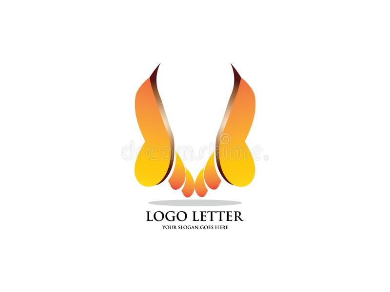 Künstlerischer Logovektor des Buchstaben V Vector Schriftbild für Aufkleber, Schlagzeilen, Poster, Karten usw. vektor abbildung