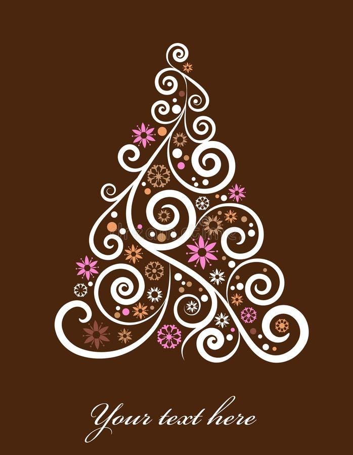 Künstlerischer Weihnachtsbaum lizenzfreie abbildung