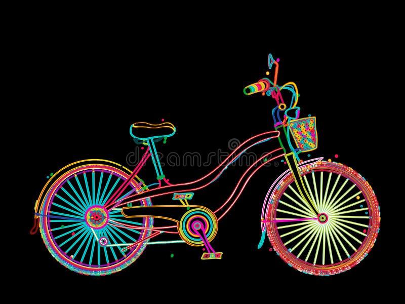 Künstlerisches Fahrrad lizenzfreie abbildung