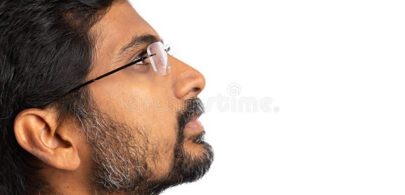 Künstlerisches Optikbild des indischen Mannes lizenzfreie stockbilder