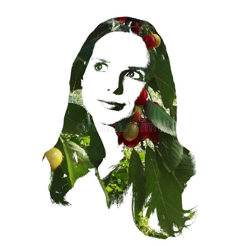 Künstlerisches Porträt einer durchdachten jungen Frau stockfoto