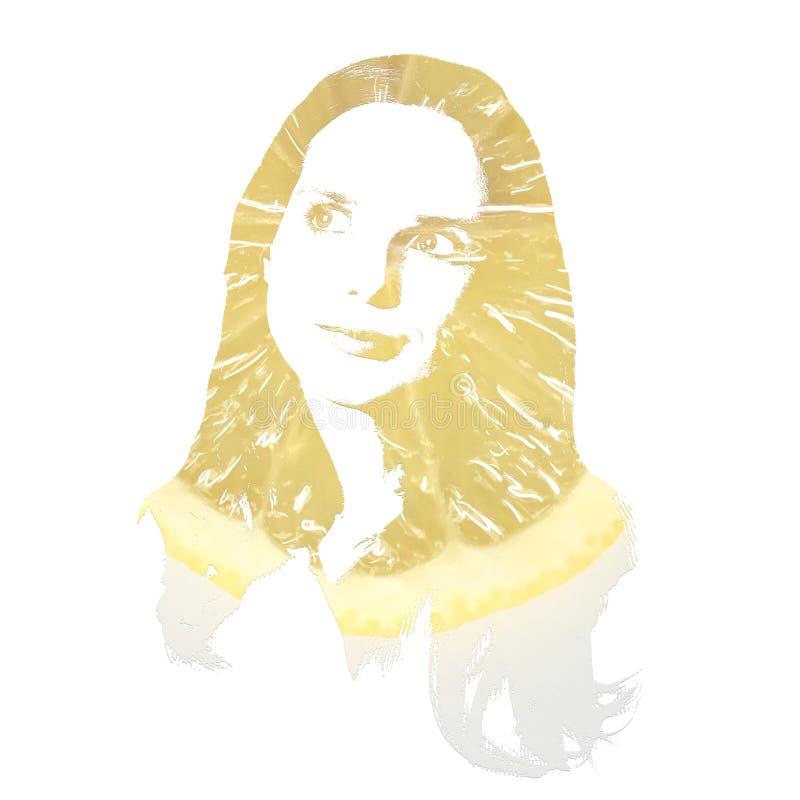 Künstlerisches Porträt einer jungen träumenden Frau stockfotografie