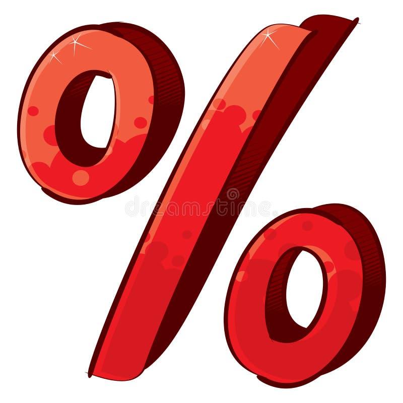 Künstlerisches Prozentzeichen vektor abbildung