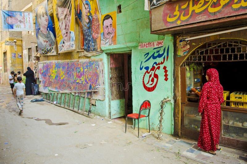 Künstlershop in alter Stadt Ägypten Kairos lizenzfreie stockfotos