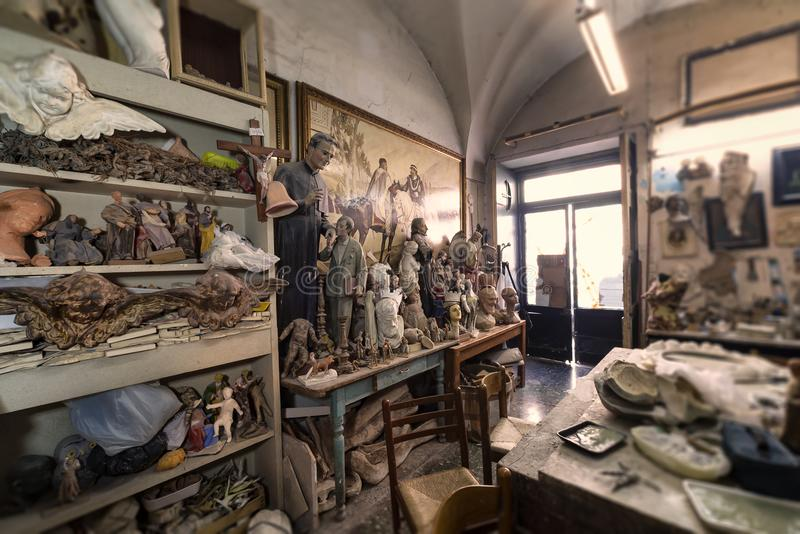 Künstlerstudio, -skulpturen und -statuen vektor abbildung