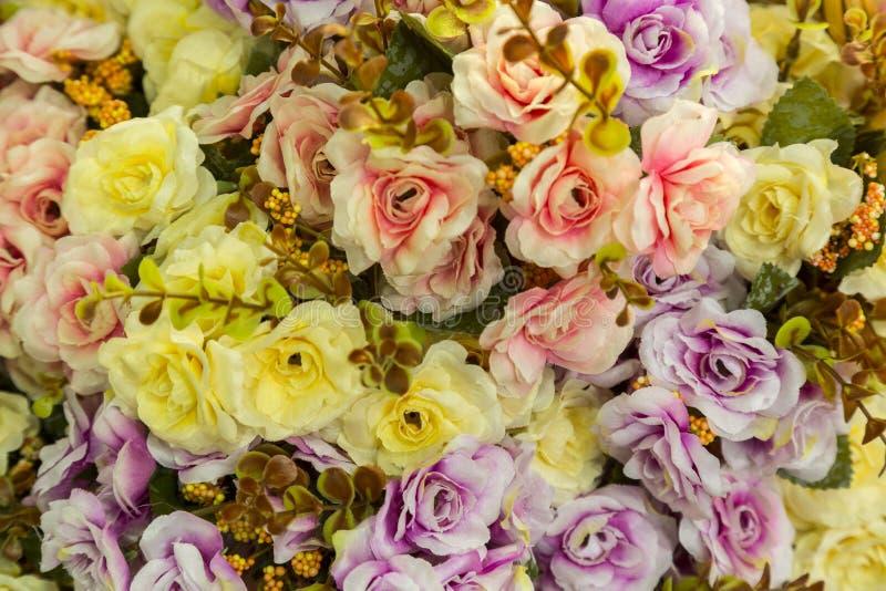 Künstlich gemachte Blumen stockbilder