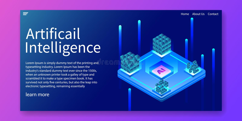Künstliche Intelligenz, AI-CPU-Automatisierung, isometrisches TechnologieKonzept des Entwurfes Netzschablonenentwurf Auch im core lizenzfreie abbildung