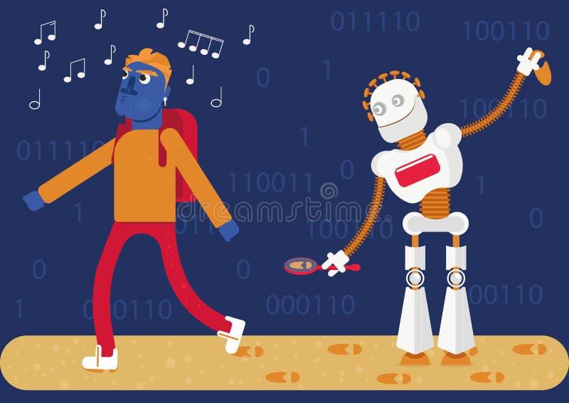 Künstliche Intelligenz ermittelt unsere ganze Tätigkeit im Internet und schafft das Bild von, wem wir sind, was wir mögen, wo wir lizenzfreie stockbilder