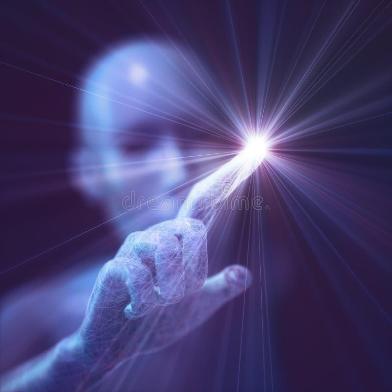 Künstliche Intelligenz-Humanoid Leben stock abbildung