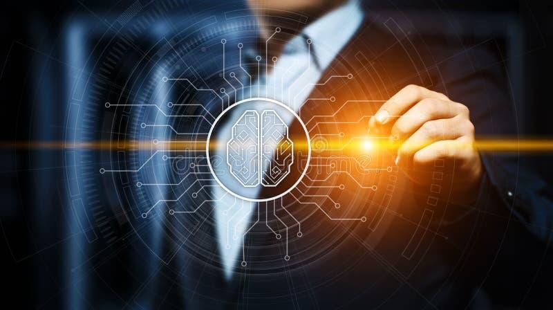 Künstliche Intelligenz Lernfähigkeit- einer Maschinegeschäfts-Internet-Technologie-Konzept stockfoto