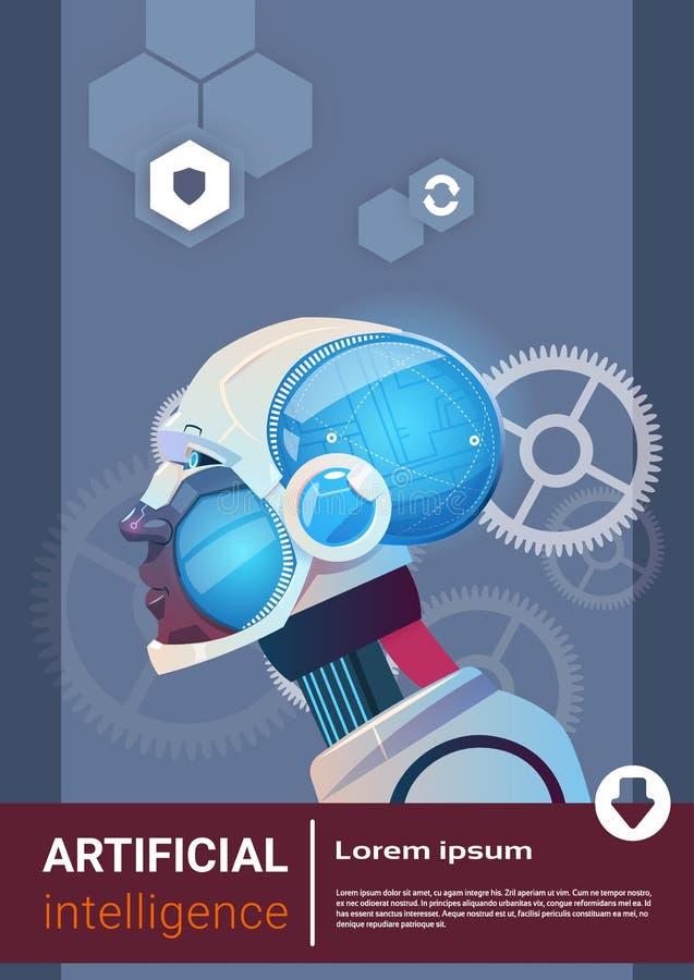 Künstliche Intelligenz-moderner Roboter Brain Technology lizenzfreie abbildung