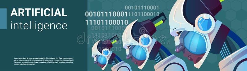 Künstliche Intelligenz-moderner Roboter Brain Technology vektor abbildung