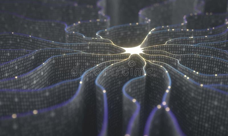 Künstliche Intelligenz-neurales Netz stockbilder