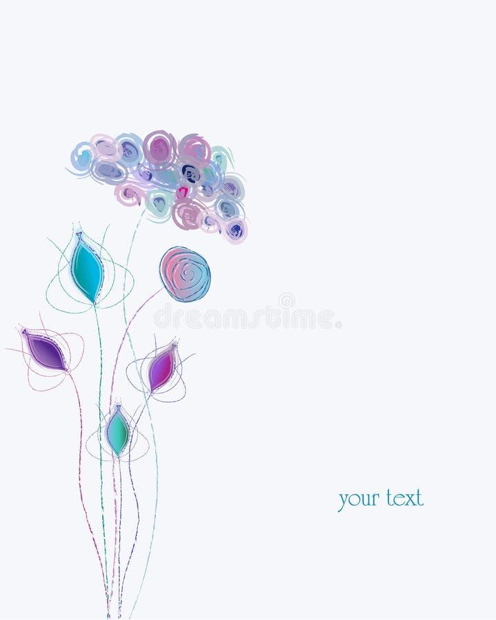 Künstliche Pastellfrühlingsblume stock abbildung