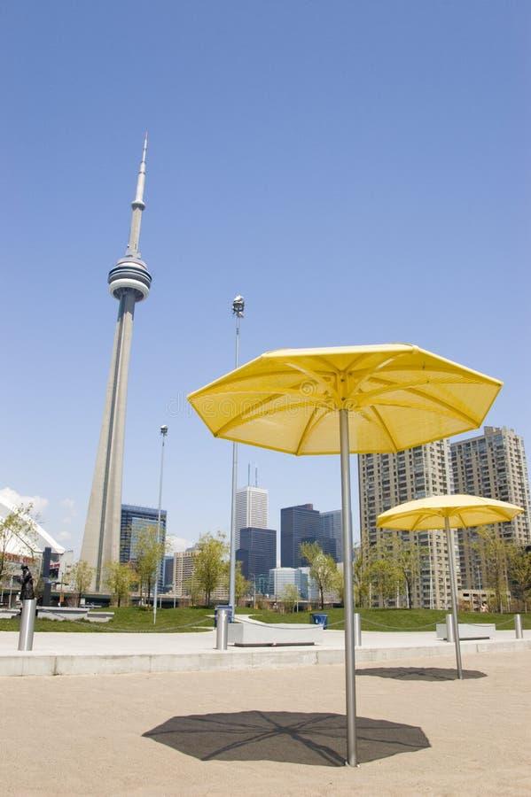 Am künstlichen Strand in Toronto Kanada stockfoto