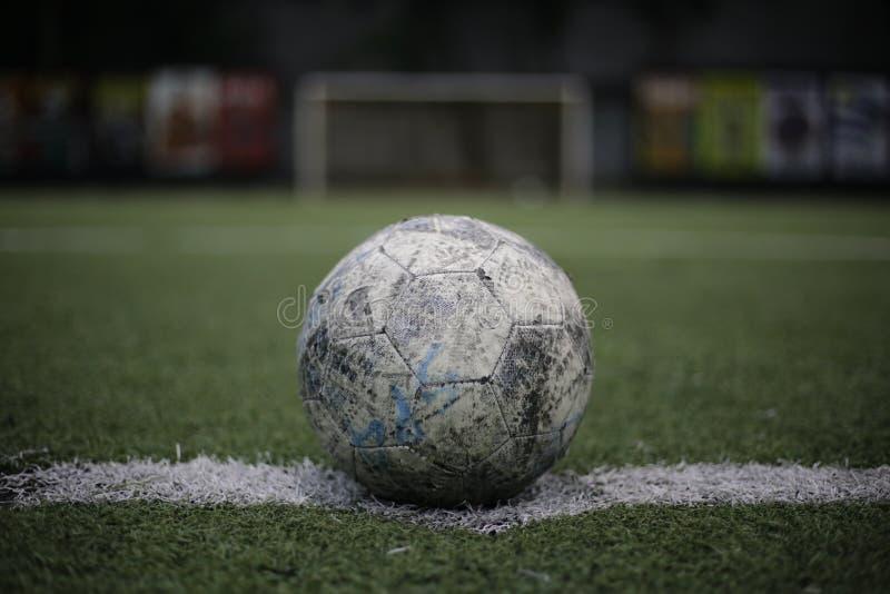 Künstlicher Innenrasen des Fußballs stockfoto