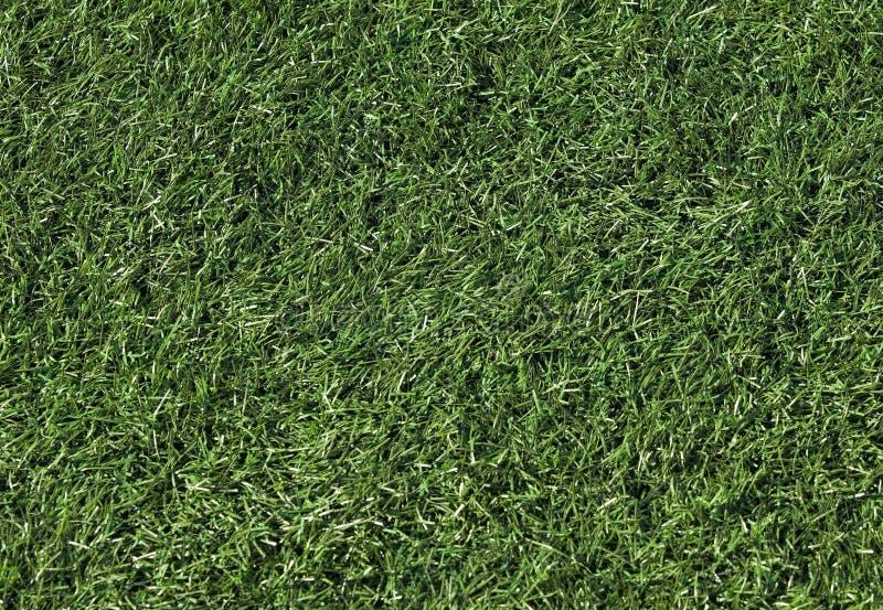 Künstliches Gras auf einem Fußballplatz stockfoto
