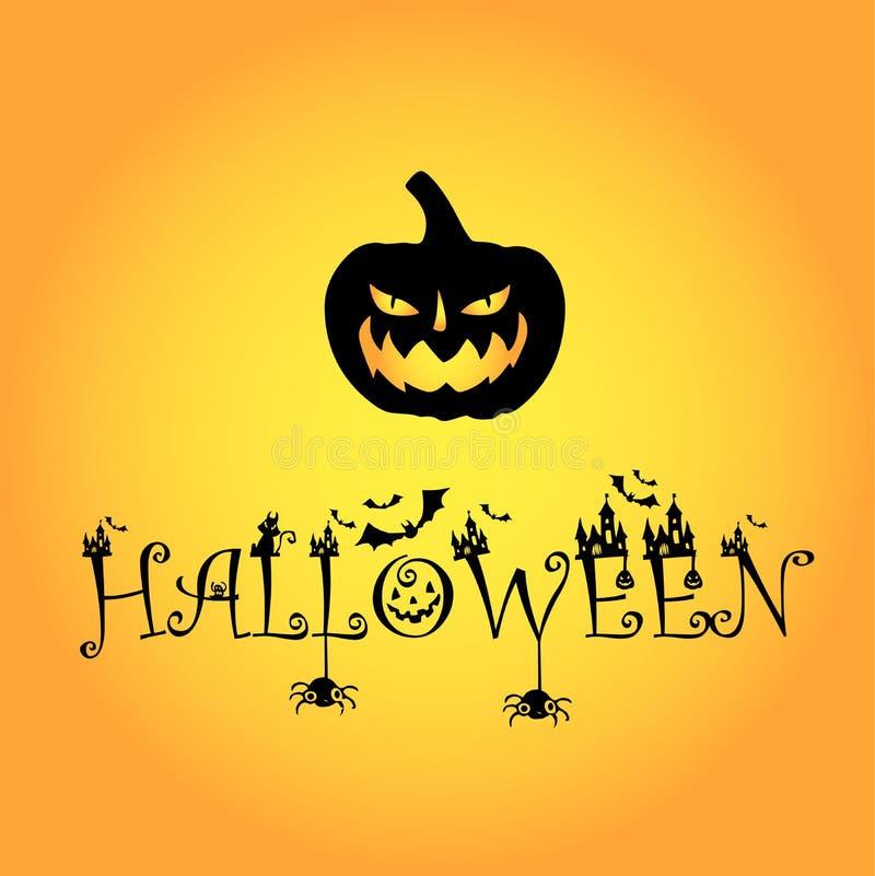 1 Kürbis blackpumpkin Halloween-Logo lizenzfreie stockbilder